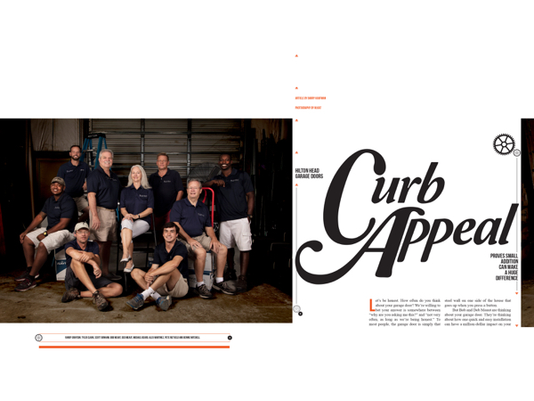 Hilton Head Magazines Ch2 Cb2 Curb Appeal Hilton Head Garage Doors Proves Small Addition Can Make A Huge Difference