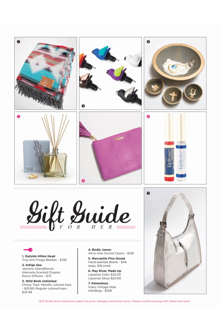 Hilton Head Magazines: CH2/CB2: 2017 Gift Guide For Her