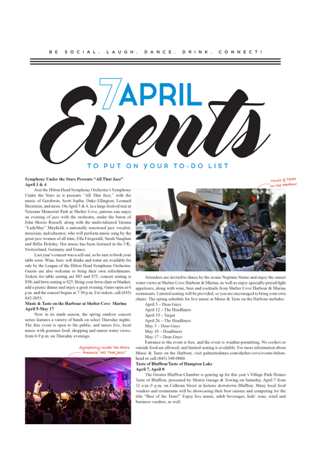 Hilton Head Magazines: CH2/CB2: Seven April Events to put on
