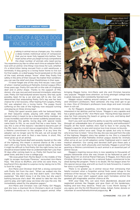 Hilton Head Magazines: CH2/CB2: The Love of a Rescue Dog Knows No Bounds