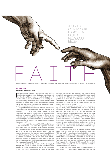 essay writing on faith in god