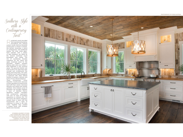 Hilton head magazines ch2 cb2 southern style with a for Southern style kitchen ideas